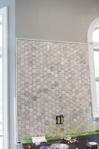 Pencil tile for edging | Backsplash | Pinterest | Mosaic ...