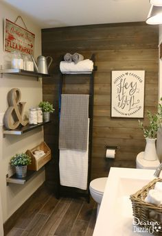 There is just something about a farmhouse that is homey and inviting. IKEA's products were mainly used to decorate and style the farmhouse modern bathroom.: