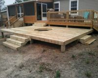 outdoor gas fire pit on deck - Google Search | all DECK ...