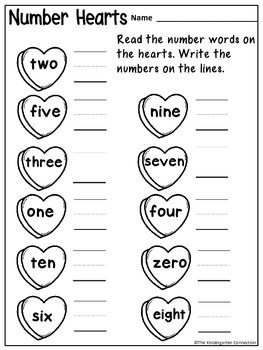 February themed printables for Kindergarten! Get 4 pages