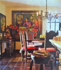 Mexican style dining room..nothing about it I don't love ...