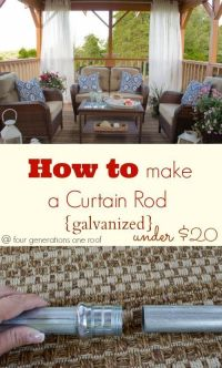 how to make a curtain rod {galvanized | Pinterest ...