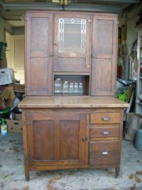 Details about 1920's-1930's oak Sellers kitchen cabinet ...