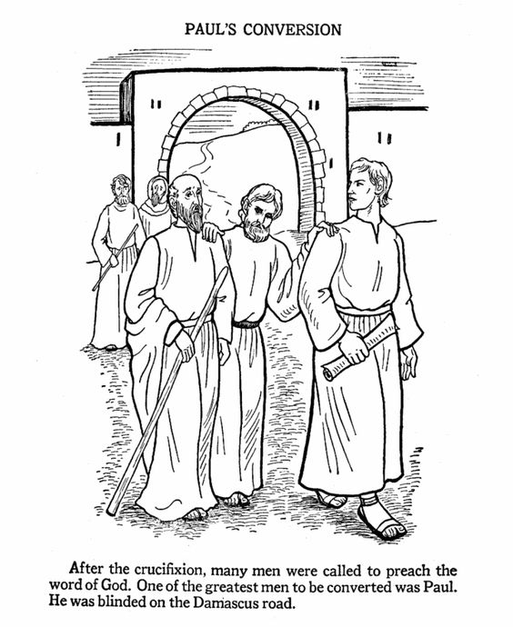 Paul the apostle, Coloring pages and Colouring pages on