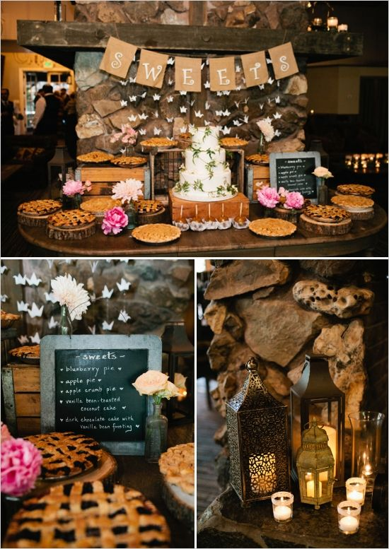 Desserts Rustic fireplaces and Pies on Pinterest