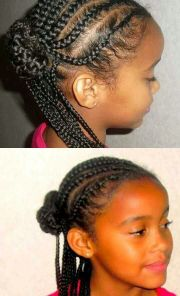 simple protective style. cornrows