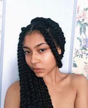 chunky box braids