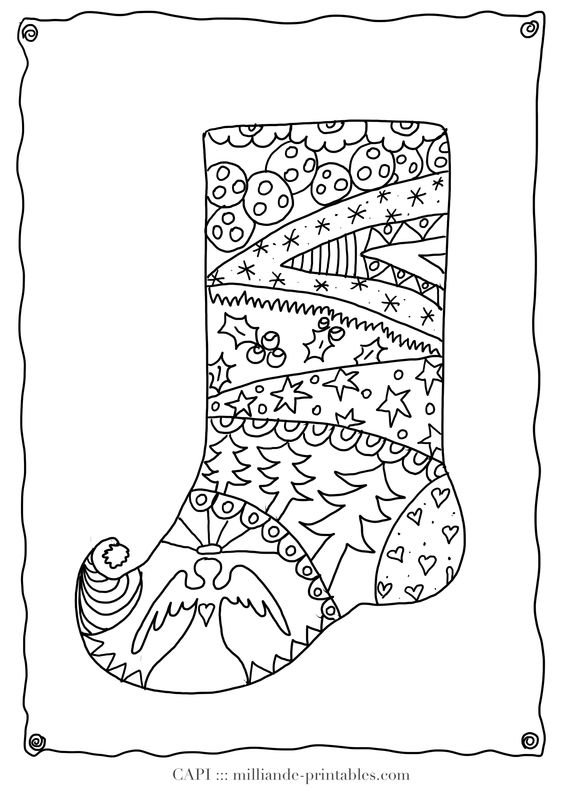 Coloring, Christmas stockings and For kids on Pinterest