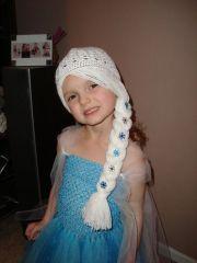 elsa frozen inspired wig hat white