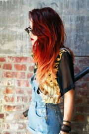 fire hair - red chalk ombr
