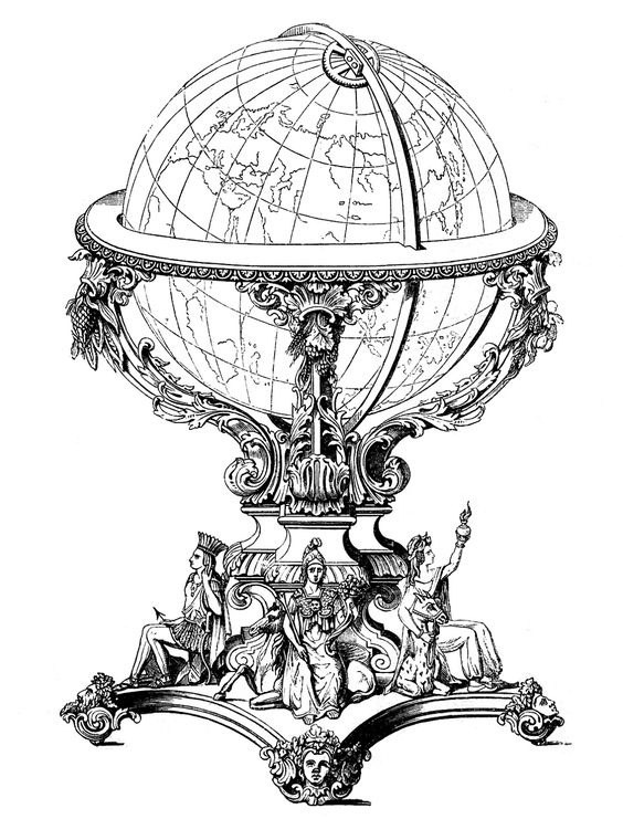 Globes, Steampunk and Graphics fairy on Pinterest