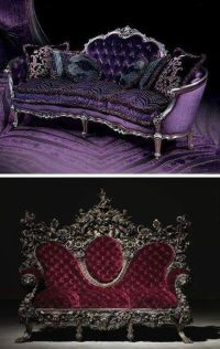 Red sofa, Gothic furniture and Victorian on Pinterest