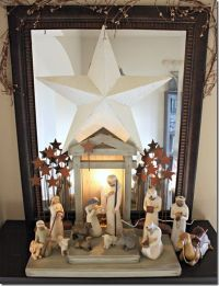 Old fashioned Christmas Nativity scene & more decorating ...