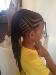 cornrows braids extensions mohawk