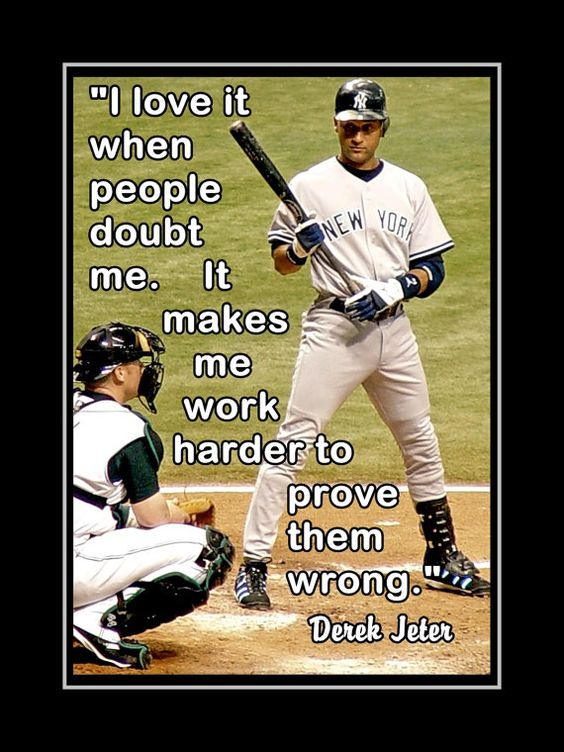 Derek Jeter Poster NY Yankees Fan Photo Quote by ArleyArtEmporium, $11.99: