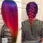 amazing rainbow hair of violet