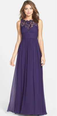 Purple Bridesmaid Dresses | Lace gowns, Style and Love this