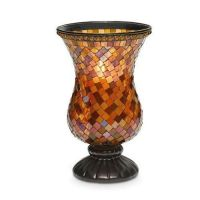 Partylite Global Fusion Hurricane Glass Mosaic Candle