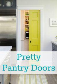 Pretty Pantry Door   Pocket doors, Bathroom doors and Pantry