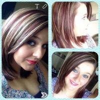red 4rv blonde and brown partial highlight   MyaAtVolume ...
