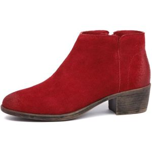 I Love Billy Abley Red Suede Boot