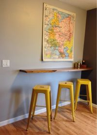 Floating Breakfast Bar, wall mounted breakfast bar ...