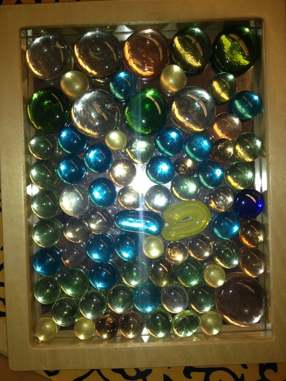 glass gems on mirrors  Glass gem crafts  Pinterest