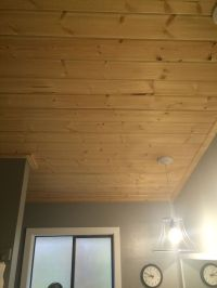 Bathroom ceilings, Tongue and groove and Pine on Pinterest