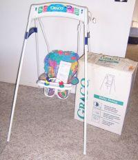 Vintage Graco Swingomatic Wind Up Crank Infant Baby Swing ...