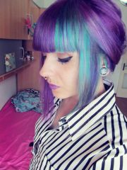 purple teal hair