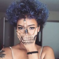Curly hair, Bold colors and Tat on Pinterest