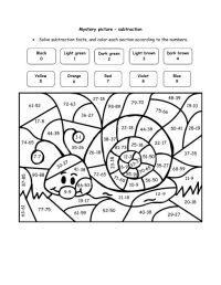 super teacher worksheets math puzzle picture | Happy Snail ...