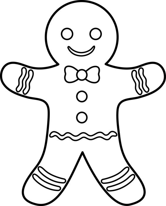 Gingerbread man, Coloring pages and Coloring on Pinterest