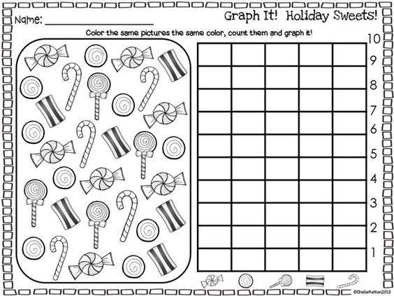 Graph it! Holiday Sweets! FREEBIE!!! Kids LOVE doing these