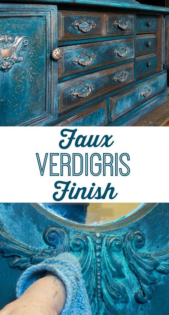 Faux Verdigris Finish  Beautiful Furniture and Graphics