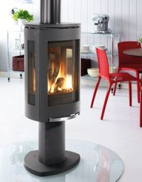 Interesting... Free-standing gas fireplace. | Gas ...