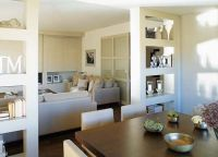 Built-in shelves/between dining room and liv room to ...