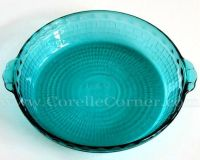 Peacock Pyrex 229 pie plate with basketweave pattern - I ...