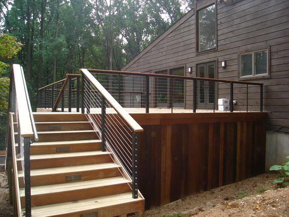 contemporary deck railing