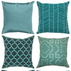 Living Room Designs With Chocolate Brown Sofa Open Shelves In Teal Pillows.   Home Decor Pinterest Front Rooms, Grey ...
