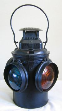 Vintage adlake switch lamp lantern great northern gn 4 ...