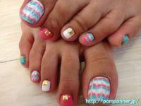 Peacock foot nail color vivid | Pedicure | Pinterest ...