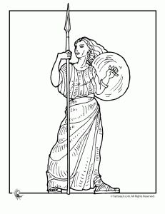 Greek gods, Coloring pages and Ancient greek on Pinterest