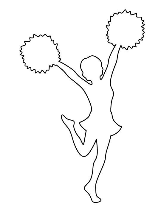 Cheerleader pattern. Use the printable outline for crafts