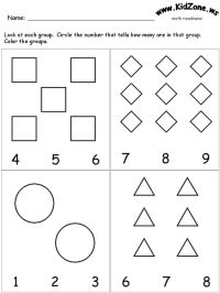 Number Names Worksheets  Learning Activities For 4 Year