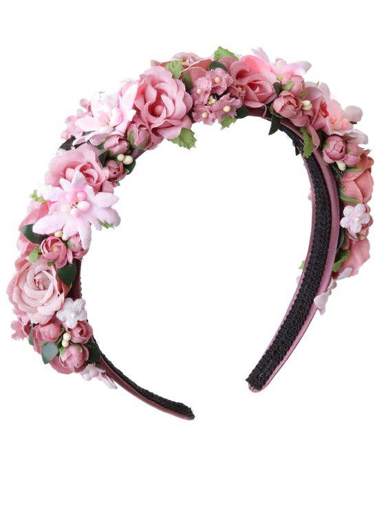 Blumenhaarband Blumenkranz Hair Frisur Haarreifen