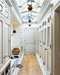 hallway skylight / slight vaulted ceiling adds height with ...