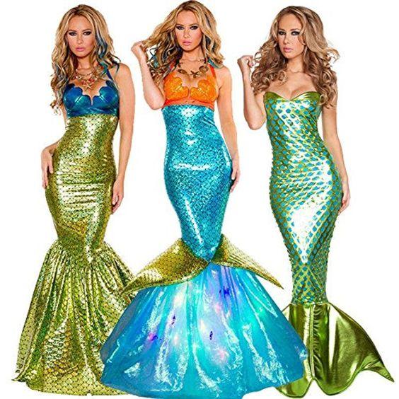 New Women Mermaid Evening Dress See Through Top Evening
