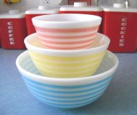 Pyrex, Stripes and Bowls on Pinterest