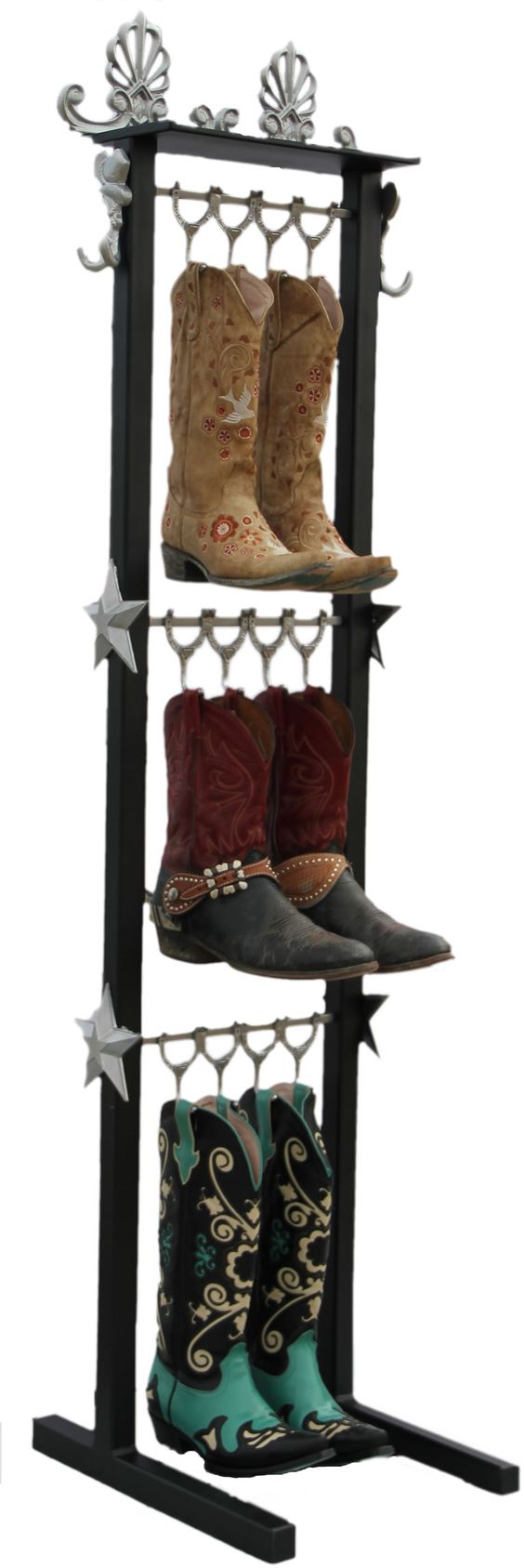Beautifully Crafted Western Style Boot Racks Organize And
